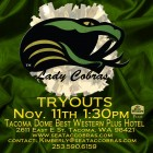 lady cobras tryouts 2013 poster